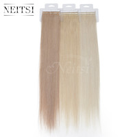 "Neitsi Remy Tape In Human Hair Straight Weave Skin Weft Hair Extensions 2.0g/strand 20"" 100% Indian Virgin Remy Hair 12 Colors"