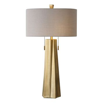 Maris Antiqued Brass Contemporary Table Lamp by Uttermost