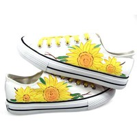 Sun Flower Lace up Sneakers