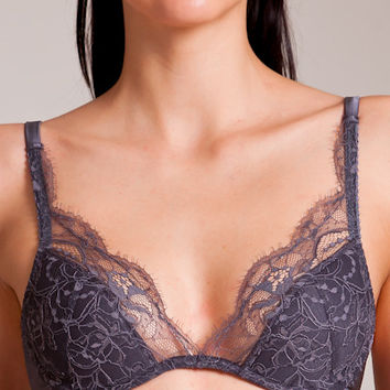 Fleur of England: Eclipse Padded Plunge Bra | Nancy Meyer