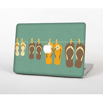 The Vintage Hanging Flip-Flops Skin for the Apple MacBook Pro 13""