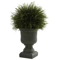 Potted Grass w-Decorative Urn (Indoor-Outdoor)