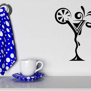 Large Vinyl Decal Wall Sticker Drink Glass Martini Cocktail Collection Cafe Decor (n843)