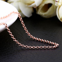 "18"" Rose Gold Loop Chain"