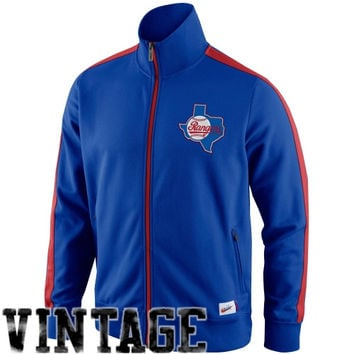 Nike Texas Rangers Cooperstown Collection N98 Full Zip Track Jacket - Royal Blue