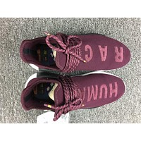 Adidas Boost Nmd Human Race BB0617 Wine Red Women Men Fashion Trending Running Sports Shoes Sneakers