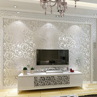 New Luxury Silver Grey Golden Reflective Wallpapers Living Room Flooring Stereoscopic Wallpaper for Walls 3 d Papier Peint WZ051