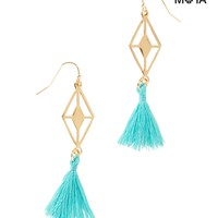 Aeropostale  Womens Tassel Earrings - Blue/Yellow