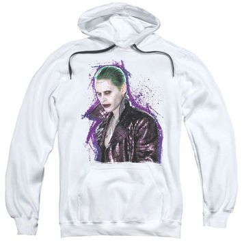 ac spbest Suicide Squad - Joker Stare Adult Pull Over Hoodie