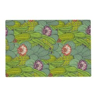 Cactus Flower Pattern Placemat