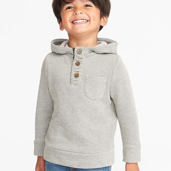 French-Terry Henley Hoodie for Toddler Boys|old-navy