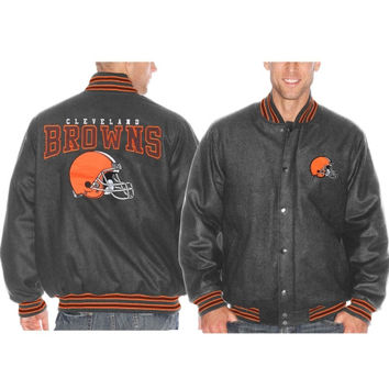 Cleveland Browns Pump Fake Promo Jacket - Charcoal