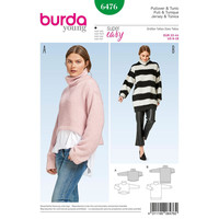 Burda Style Pattern B6476 Misses' Pullover Collared Top