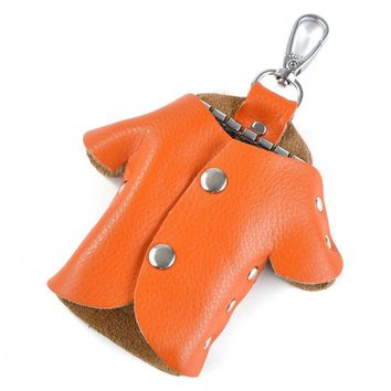 key holder lovely shape house key wallet genuine leather small key case leather keychain purse
