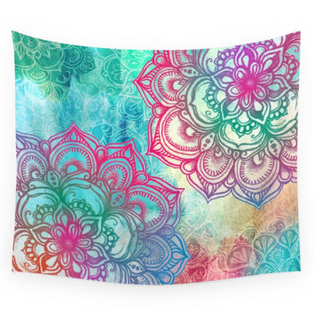Society6 Round & Round The Rainbow Wall Tapestry