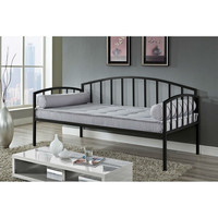 Twin Size Modern Black Metal Daybed for Bedroom or Living Room