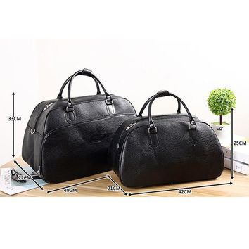 Sports gym bag PU Leather Men's s Large Capacity Gym Bags Unisex Sports Handbag Fitness Travel Duffle Tote Shoulder Training Bag KO_5_1