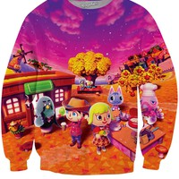 Animal Crossing New Leaf Autumn Crewneck Sweatshirt