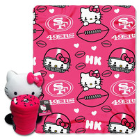 San Francisco 49ers NFL Hello Kitty with Throw Combo