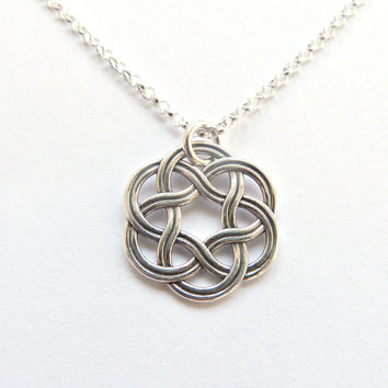 Celtic Circle Necklace Celtic Knot Friendship Necklace Bridesmaid Jewelry Bridesmaid Irish Wedding Thanks for helping me tie the knot Gift