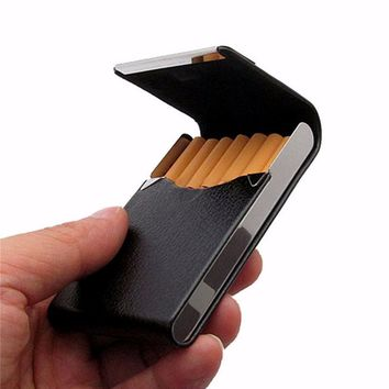 Pocket-size PU Leather Tobacco Box Smoke Cigarette Cigar Holder Storage Case Cigarette Box Container Gifts
