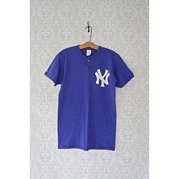Vintage 1990s New York Yankees + Henley Tee