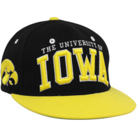 Zephyr Iowa Hawkeyes Black-Gold Superstar Snapback Hat