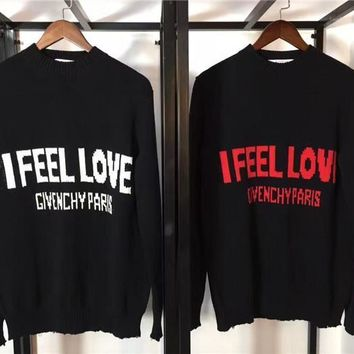 SPBEST Replica Givenchy paris  I feel love  sweater
