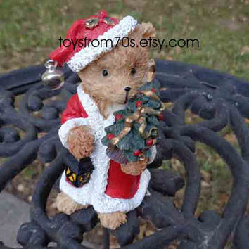 Teddy bear figurine collectible/ Secret Santa gift, gifts for coworkers