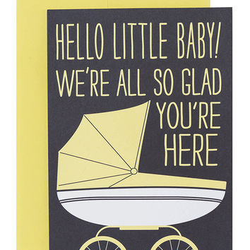 Just Yell Baby Card