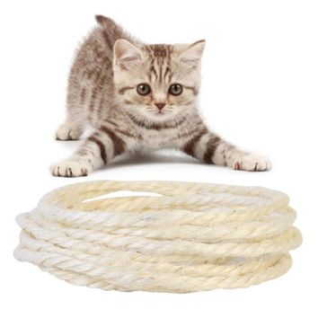 3/5M sisal rope for cats scratching post toys making DIY desk foot stool chair legs binding rope material for cat sharpen claw