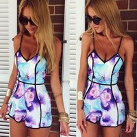 Pop Floral Playsuit-