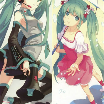 New Hatsune Miku Anime Dakimakura Japanese Pillow Cover HM19