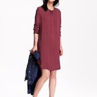 Old Navy Womens Crepe Shirt Dresses