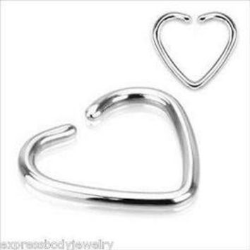 """*16gauge Earring-tiny Heart Captive Ring-daith Jewelry-16 Gauge 3/8 Inch Heart Shaped Cartilage Earring-tragus Jewelry-niobium Heart Design Ear Cartilage Rook Tragus Helix Jewelry 3/8"""" 16g"""