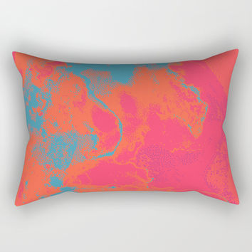 Pixelated Rectangular Pillow by duckyb