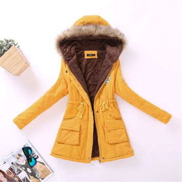 Winter 2017 Plus Size Cotton Women Coat Veste Femme Mujer Outerwear Slim Casual Clothes Ladies Basic Jackets Casacos Feminino