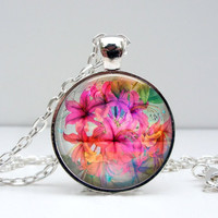 Pink Lilies Necklace
