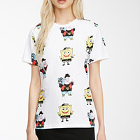 SpongeBob and Patrick Print Tee
