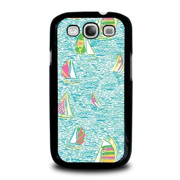 LILLY PULITZER SAILBOAT Samsung Galaxy S3 Case Cover