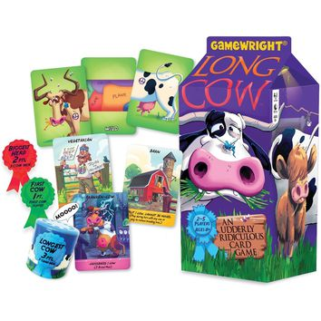 Long Cow Udderly Ridiculous Card Game