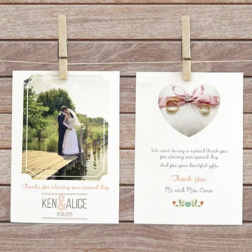 thank you card wedding, wedding thank you note, wedding photo postcard, wedding thank you postcard,  thank you notes, digital thank you card