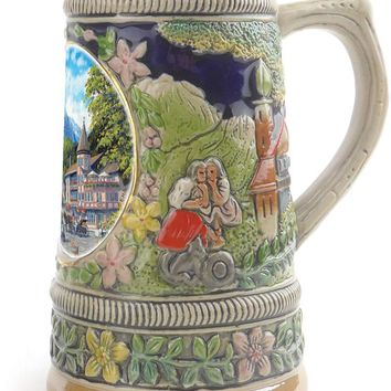 German Summer Ceramic Shot Beer Stein Collectible