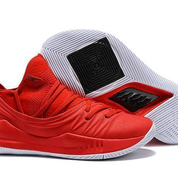Under Armour SC30 Stephen Curry 5 Low Red/Black Basketball Shoe