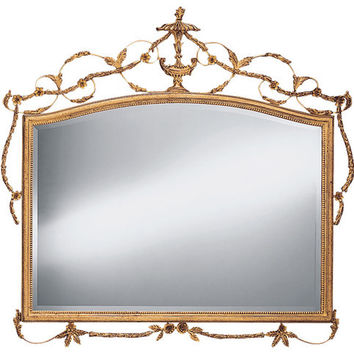 Gold Adam Style Mantle Mirror