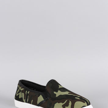 Bamboo Camouflage Slip On Sneaker