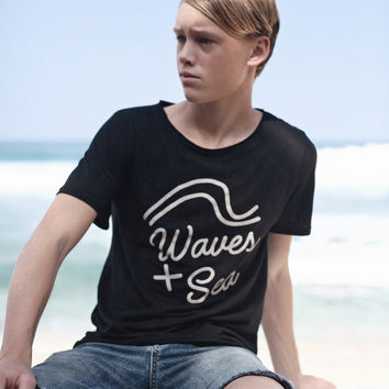 Adult Waves + Sea Tee