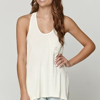 LA Hearts Crochet Pocket Tank - Womens Tees