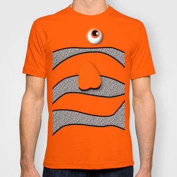 Ornamental Orange Fish finding nemo Adult Tee T-shirt by Three Second