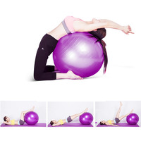 65cm Anti-Burst Yoga Ball GYM Balance Stability Fitness Exercise Ball with Air Pump Home Workout Sports Equipment - Purple